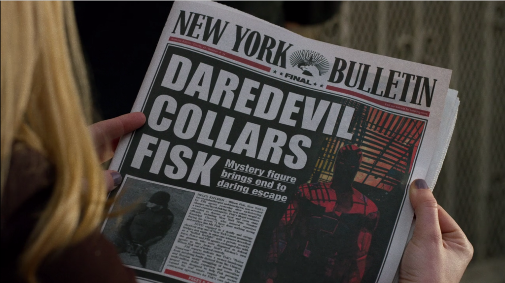 Also, the New York Bulletin hired a comic book artist for the front page of their final issue.