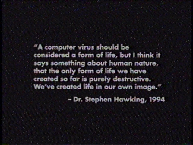 What better way to class up a movie than to start off with a quote to frame your movie's message?