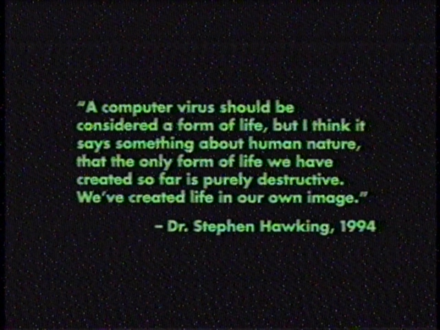 ...and then you cheapen it by turning the text green because... it's computerey?
